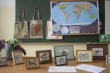 "Works of the competition ""Birds in Cross-stitch"" and ""Eco bag"", that was organized and led by teacher Janina"