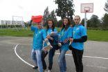 """Mareks, Laura, Linda un Katrīna - """"ūdens stacijas"""" organizatori"""