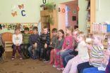 Skolotājas Dainas Lindes vadītā nodarbība par Lieldienu tradīcijām Eiropā 5-6-gadīgo bērnu grupā