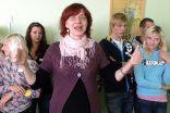 """Ingūna Irbīte vada diskusiju skolēniem """"Mana attieksme pret migrāciju - aizbraukt vai palikt?"""""""