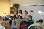 Gunta Ozolina and Zoja Lascuka leading workshops for primary school pupils