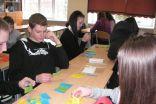 Darba moments  grupu darba laikā 9.klasē