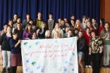 Participants with poster full with ideas and voting for sustainable planet