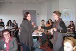"""Viena no """"Satelītu stāsta"""" uzvarētājām Elīna Reķe- Bērziņa (pa kreisi)"""